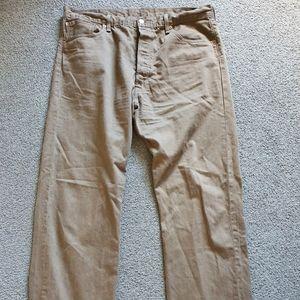 Brown LEVI JEANS levi's 501 straight 40W 34L levis